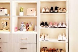 Custom closet installed by Blair's Interior Design