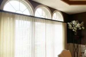 Sheer Window Treatments Installed by Blair's Interior Design